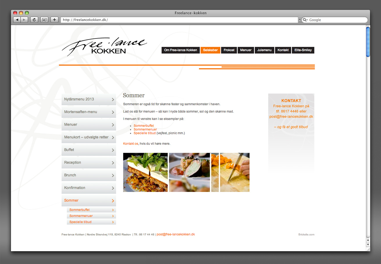 hjemmesidedesign, design til hjemmeside, freelancekokken, freelance-kokken, grafisk design, webdesign, freelancer, aarhus, maria refsgaard, krims