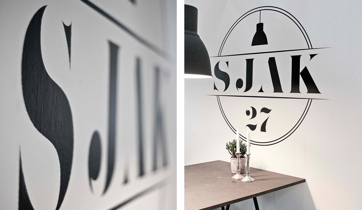 sjak27, kontorfællesskab, aarhus, mejlgade, grafisk design, maria refsgaard, krims, freelance, visuel identitet, logo, webdesign