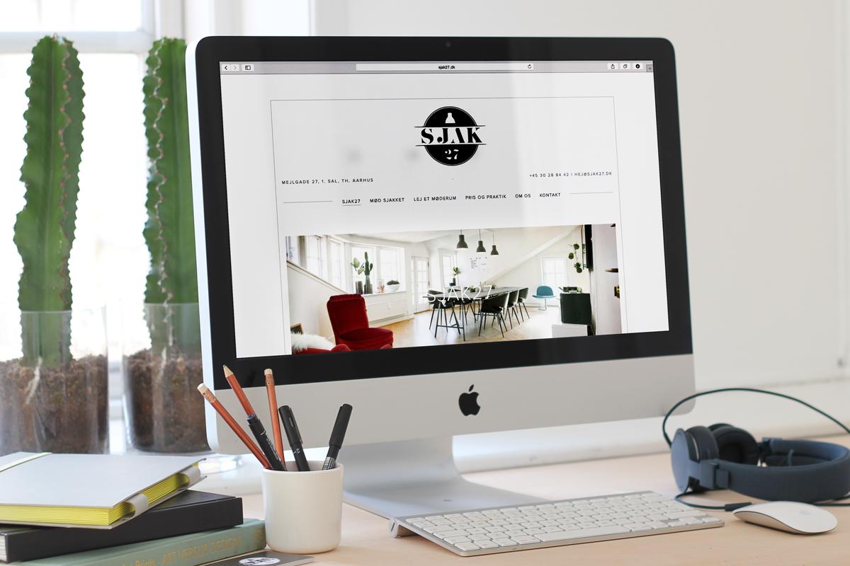 sjak27, kontorfællesskab, aarhus, mejlgade, visulel identitet, logo, webdesign, indretning, interiør, maria refsgaard, grafisk design, krims