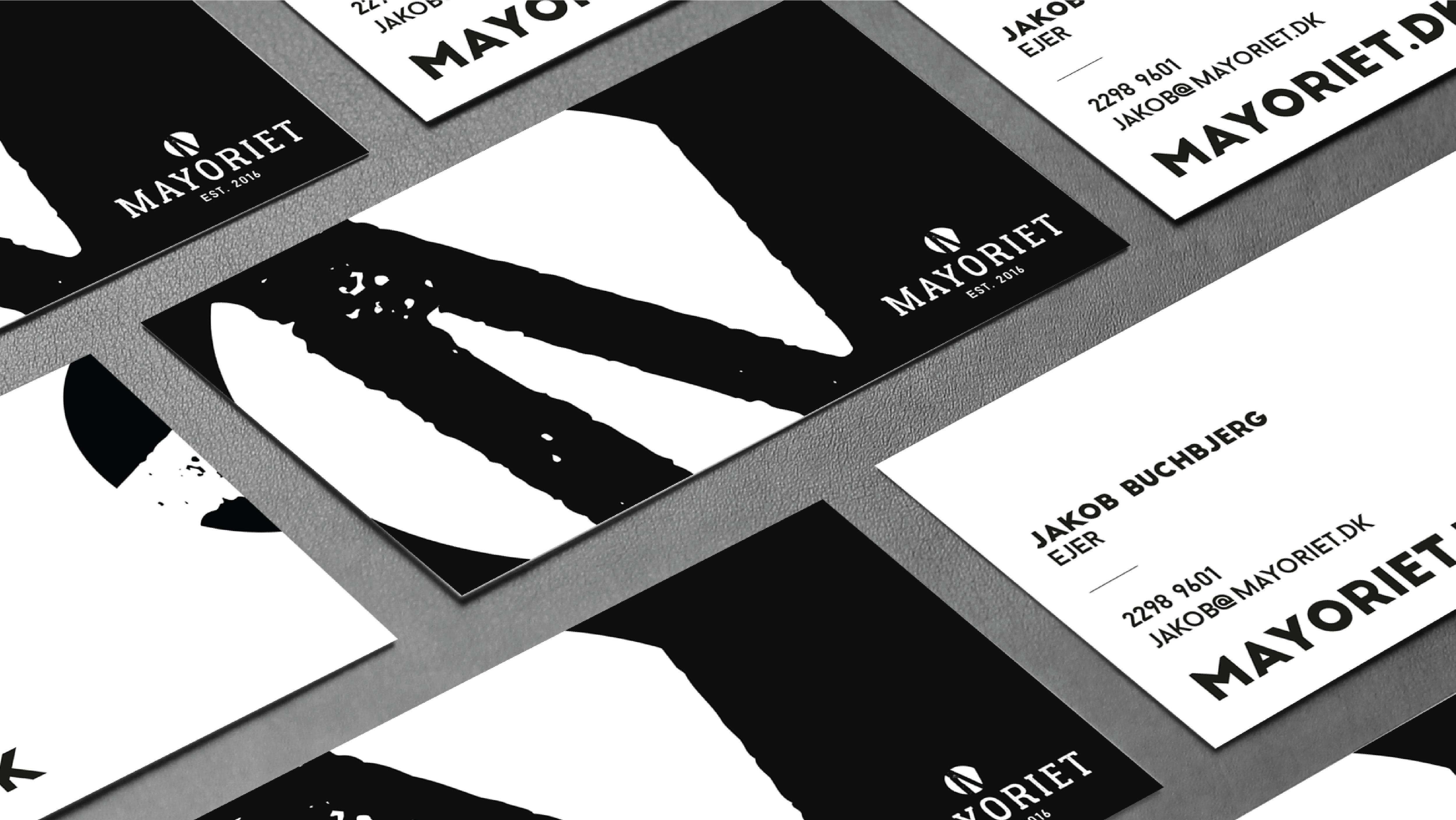 mayoriet, samsø, logo, visuel identitet, grafisk design, krims, maria refsgaard